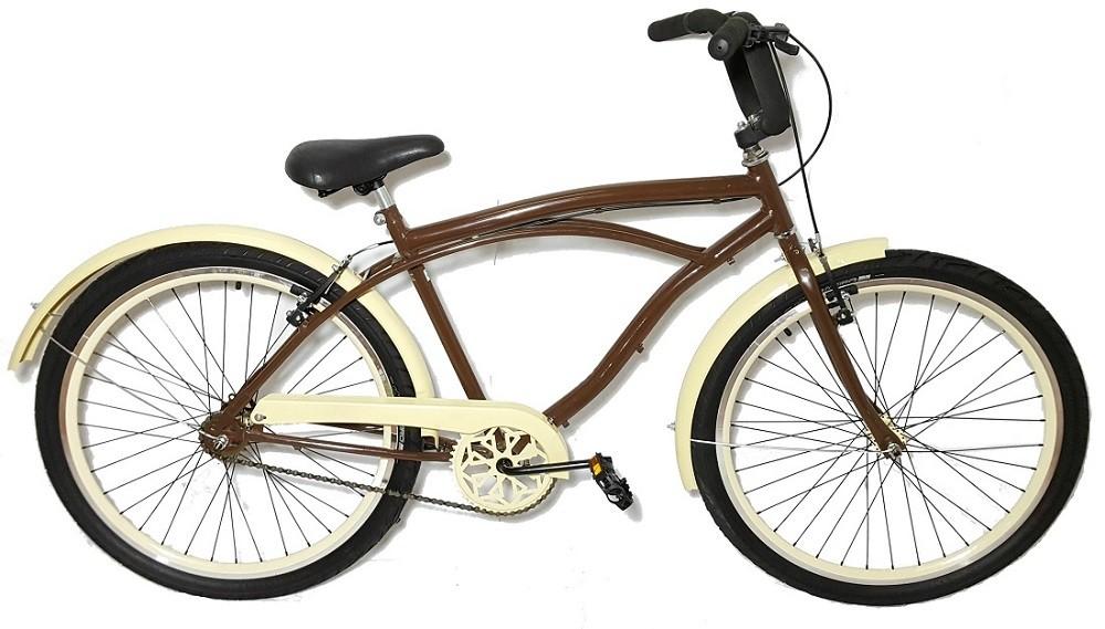 Bicicleta Aro 26 Caiçara Beach Cor Marrom Café Wendy Bike Retro