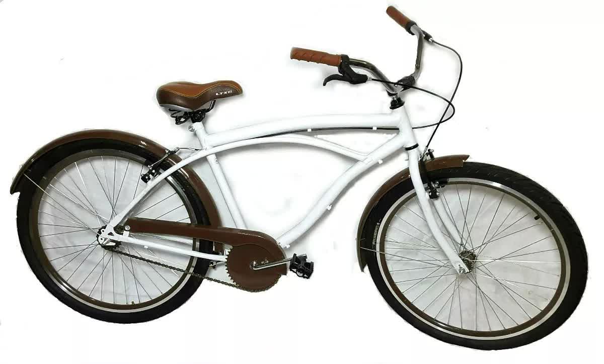 Bicicleta Aro 26 Caiçara Beach Wendy Bike Retro Branca