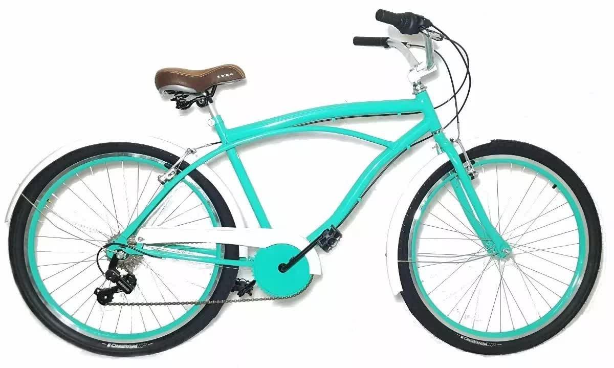 Bicicleta Caiçara Retro Beach Antiga C/ Marcha Shimano