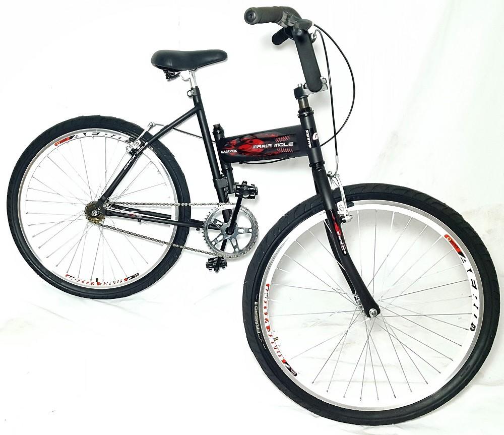 Bicicleta Maria Mole Preta Galilleus