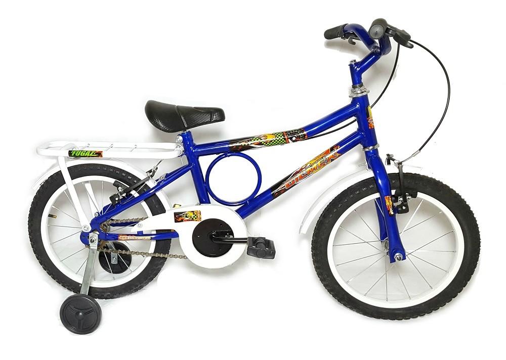 Bicicleta Aro 16 Barra Forte Infantil Barrinha Azul