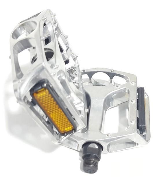Pedal Plataforma 1/2 Aluminio Rosca Fina P/ Caloi Mtb Bmx