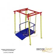 Playground Adaptado Cadeirante Balanço Americano Simples