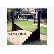 Playground de Tronco Corda Bamba