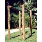 Playground Tronco de Eucalipto Escada Horizontal