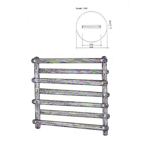 Barreira Simples de Tronco <br><br>  - Natumóveis Decorlazer