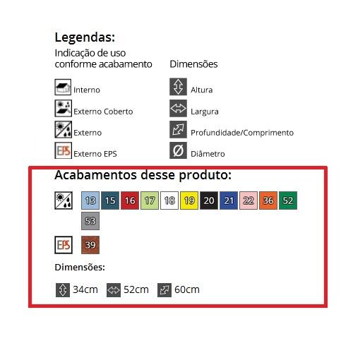 CADEIRA ADIRONDACK ADELI + PESEIRA ADELI  - Natumóveis Decorlazer