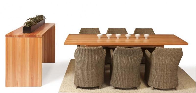 Mesa Block de Madeira 230 x 90  - Natumóveis Decorlazer