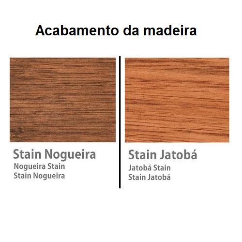 Mesa de Centro Jacarta de Madeira  - Natumóveis