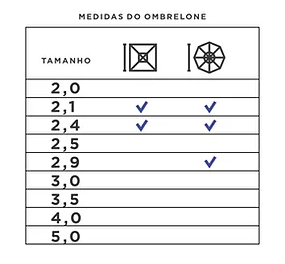 OMBRELONE LATERAL SLIM COM BASE DE CONCRETO  2,10 M X 2,40 M X  2,90 M  - Natumóveis Decorlazer
