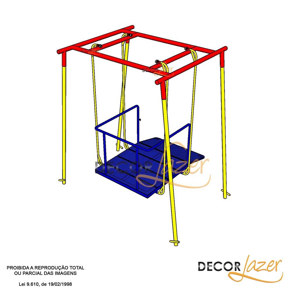 Playground Adaptado Cadeirante Balanço Americano Simples  - Natumóveis Decorlazer