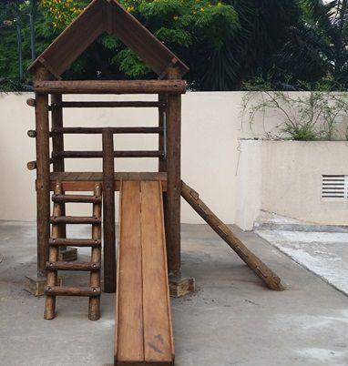 Playground de Tronco Casa do Tarzan  - Natumóveis Decorlazer