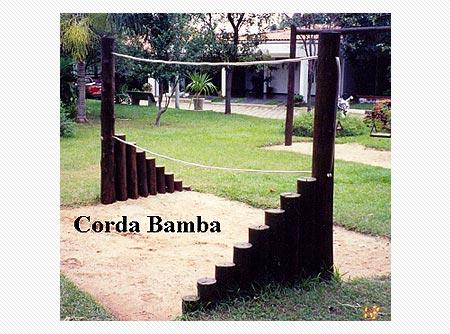 Playground de Tronco Corda Bamba  - Natumóveis Decorlazer