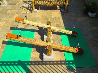 Playground de Tronco Gangorra  - Natumóveis Decorlazer