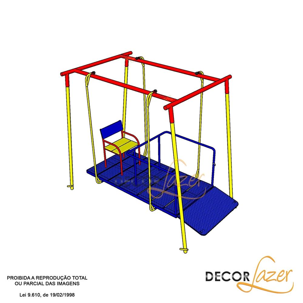 Promoçao 2 - Playground Adaptado Cadeirante 3 Brinquedos  - Natumóveis Decorlazer