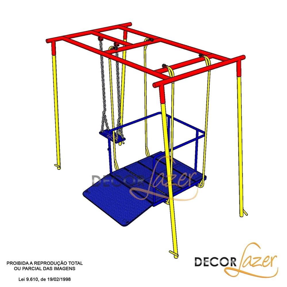 Promoçao 3 - Playground Adaptado Cadeirante 2 Brinquedos  - Natumóveis Decorlazer