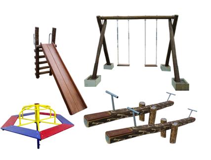 Promoção Playground de Tronco com Gira Gira  - Natumóveis