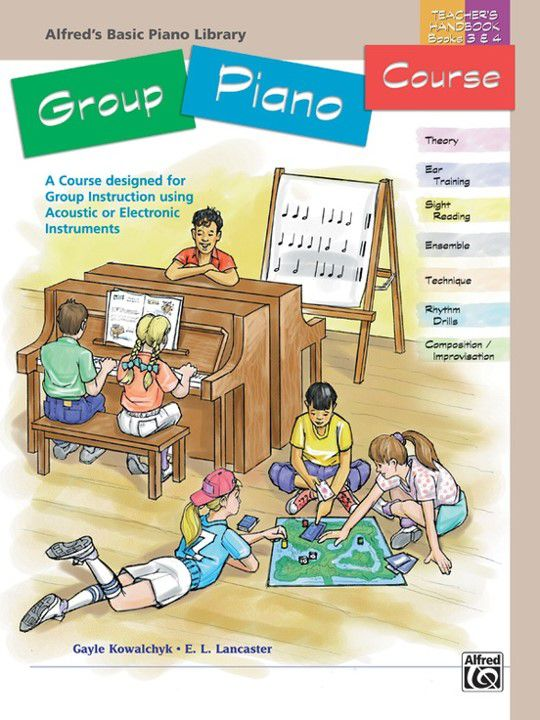 Alfred´s Basic Group Piano Course: Teacher´s Handbook for Books 3 & 4