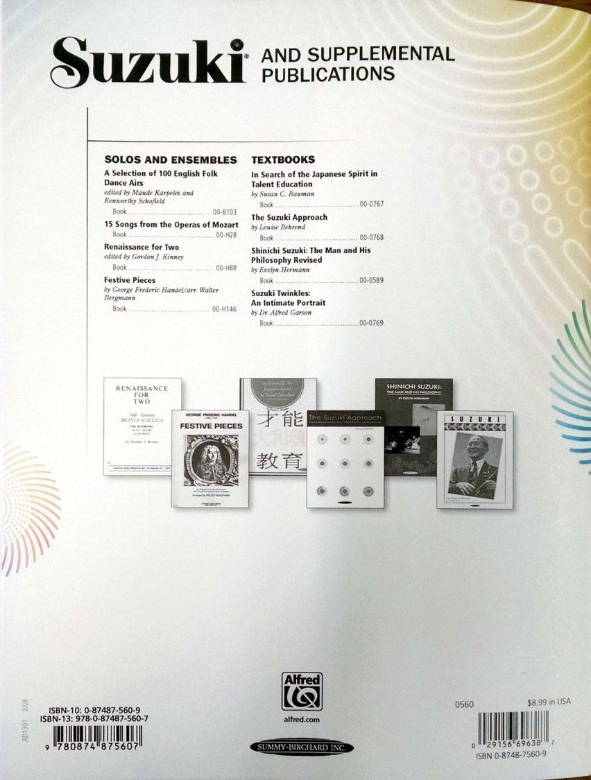 Suzuki Recorder School Recorder Part, Volume 4, Alto