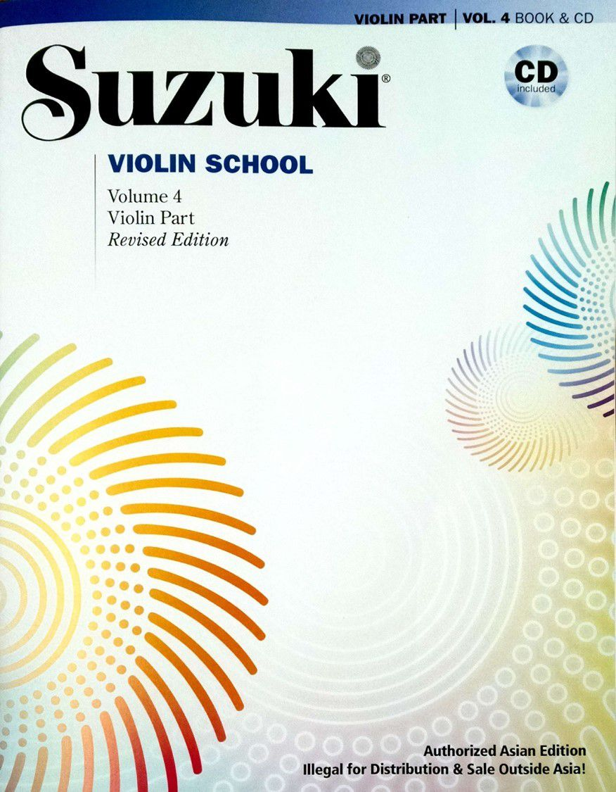 Suzuki Violin School Method Book and CD, Volume 4 (Asian Edition) (Revised)