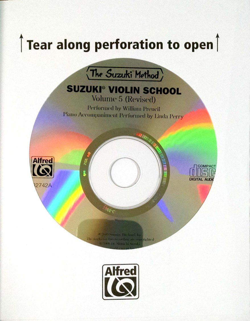 Suzuki Violin School Method Book and CD, Volume 5 (Asian Edition) (Revised)