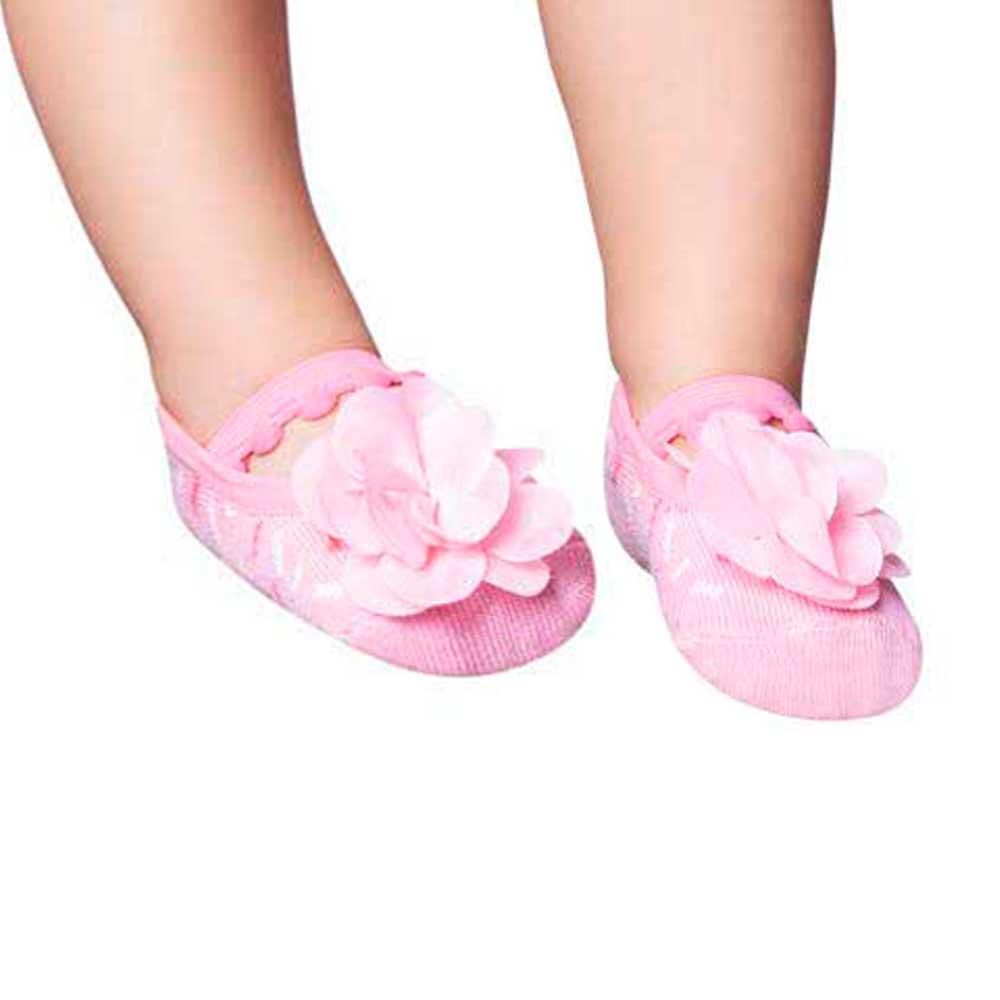 22954a6d8f Meia Sapatilhas Bebê Menina 0 a 12 Meses Kit Com 5 - Pé Tuquinho Calçados e Moda  Infantil