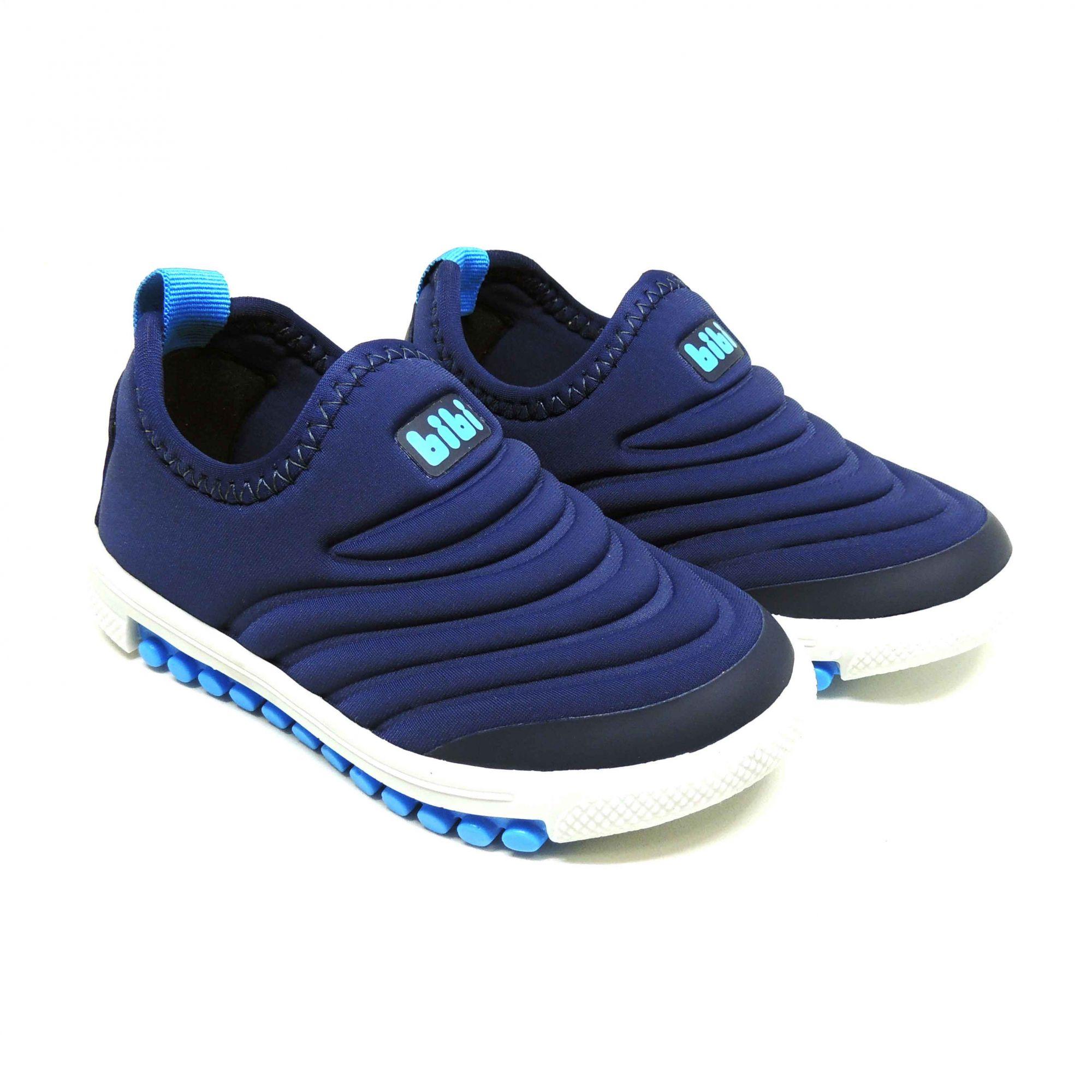 d2758b45d7c Tênis Bibi Roller New Marinho E Azul Claro - Pé Tuquinho Calçados e ...