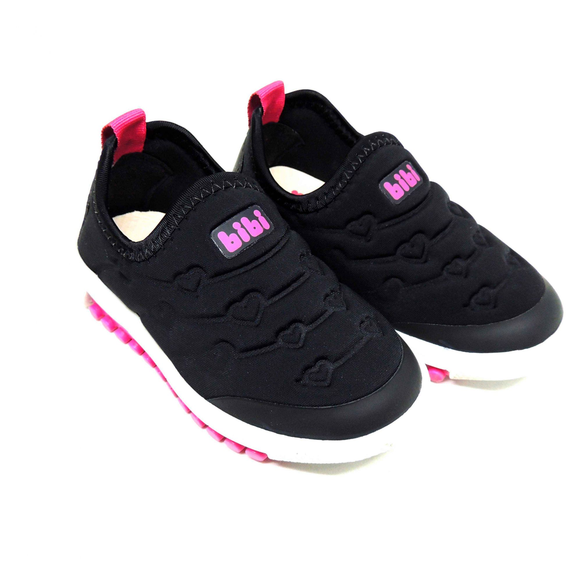 697ccb1ddfd Tênis Bibi Roller New Preto E Pink - Pé Tuquinho Calçados e Moda ...