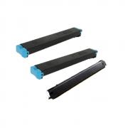 2 Cartuchos de Toner Ciano Compatíveis (MX23BTCA) + 1 Cartucho de Toner Preto Compatível Katun (MX23BTBA)- Para uso em Sharp Séries