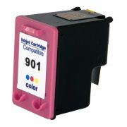 CC656AB / 901 CARTUCHO DE TINTA COLORIDO COMPATÍVEL PARA HP OFFICEJET 4540 / 4550 / 4580 / 4660