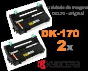 DK-170 - KIT COM 2 UNIDADES DE IMAGEM ORIGINAL KYOCERA DK170 PARA USO EM KM2810 / FS1035MFP E SERIES
