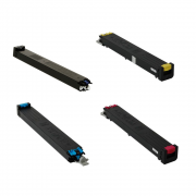 Toner Compatível, Kit com as 4 Cores MX31BTBA, MX31BTMA, MX31BTYA, MX31BTCA | SHARP MX-2600N, MX-3100N, MX-4100N