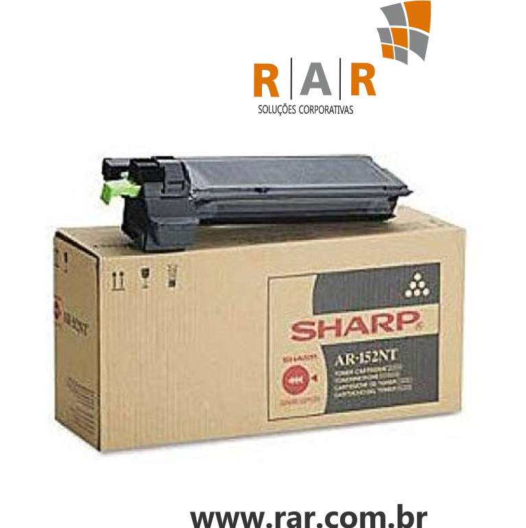 AR-168NT / AR-152NT / AR168NT / AR152NT - CARTUCHO DE TONER ORIGINAL DO FABRICANTE PARA SHARP AR168D  E SERIES