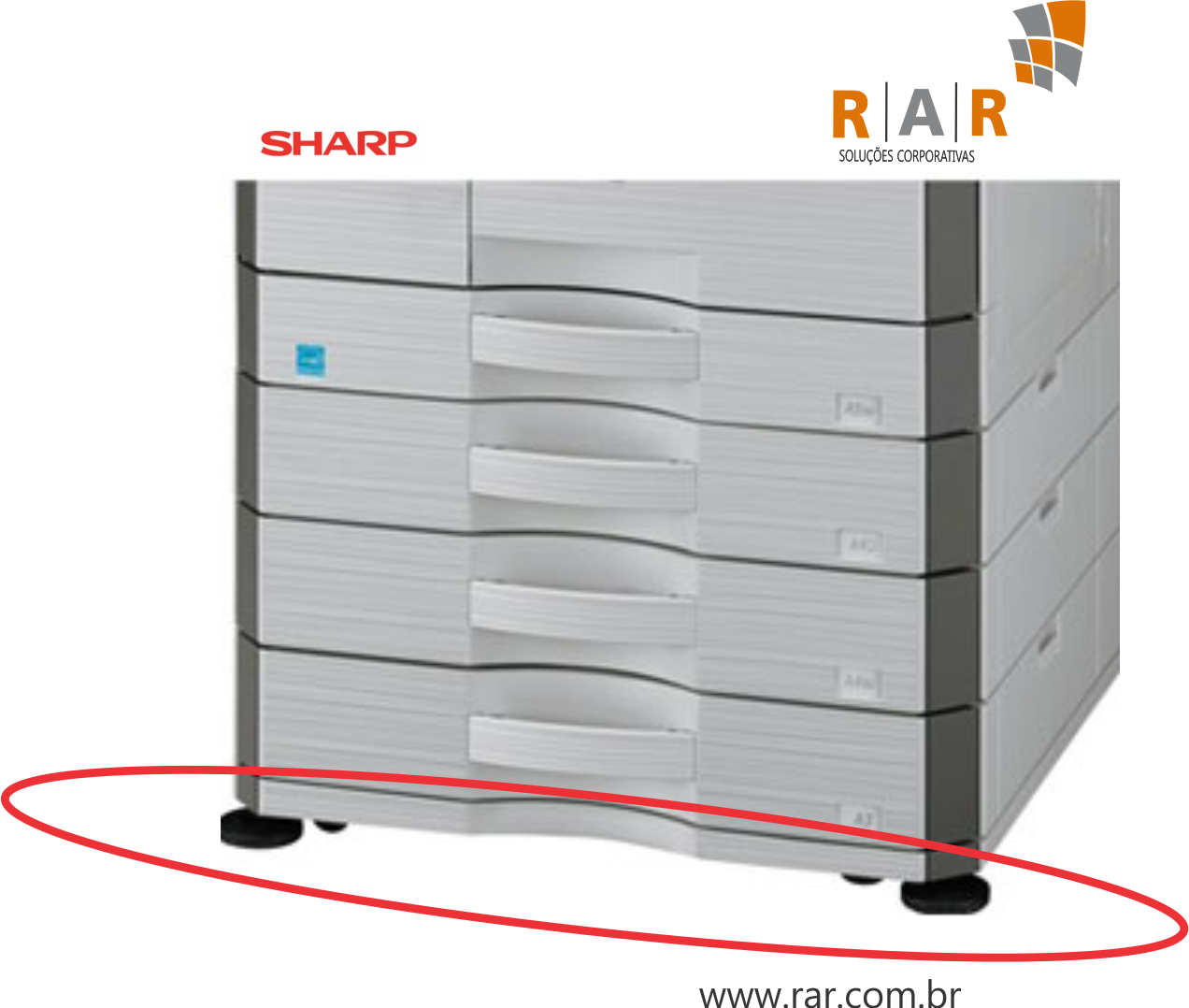 AR-DS20 (ARDS20) - GABINETE BAIXO PARA SHARP MX-M266N E SERIES