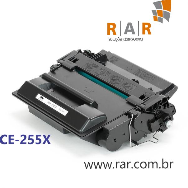 CE255X - CARTUCHO DE TONER PRETO COMPATÍVEL NOVO PARA HP P3015 E SERIES