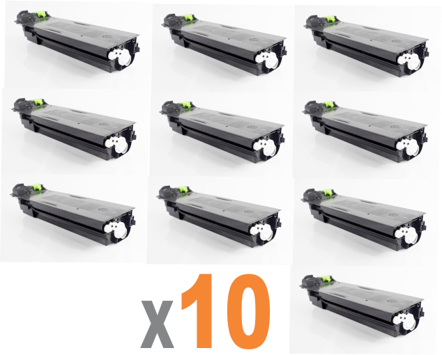 KIT COM 10 CARTUCHOS SHARP MX235BT PRETO ORIGINAL