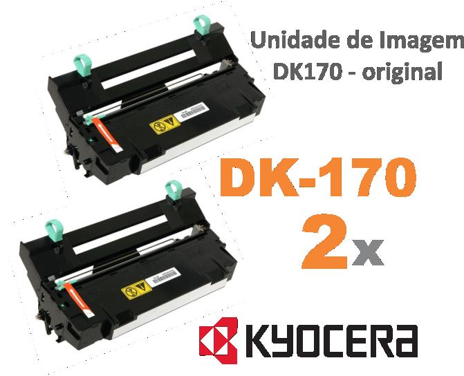 DK-170 / DK-150  - KIT COM 2 UNIDADES DE IMAGEM ORIGINAL KYOCERA DK170 PARA USO EM KM2810 / FS1035MFP E SERIES