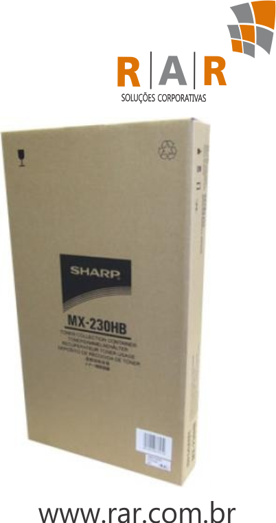 MX230HB (CBOX-0195DS51) - RESERVATÓRIO DE TONER ORIGINAL DO FABRICANTE SHARP MX2310U E SERIES