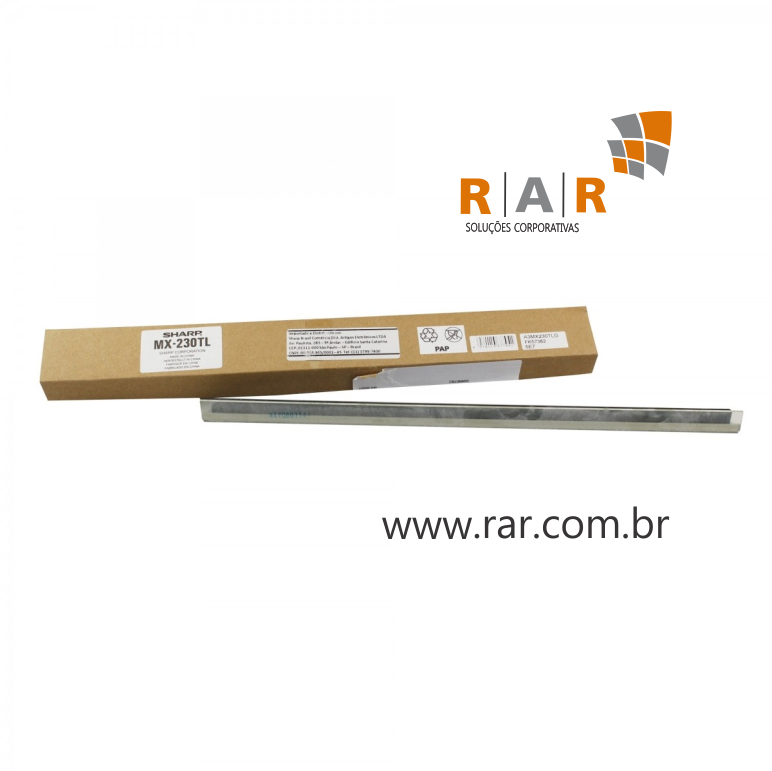 MX230TL (CCLEZ0217FC34) - LÂMINA DE LIMPEZA DA BELT PRIMARIA ORIGINAL DO FABRICANTE PARA SHARP MX-2310U E SERIES