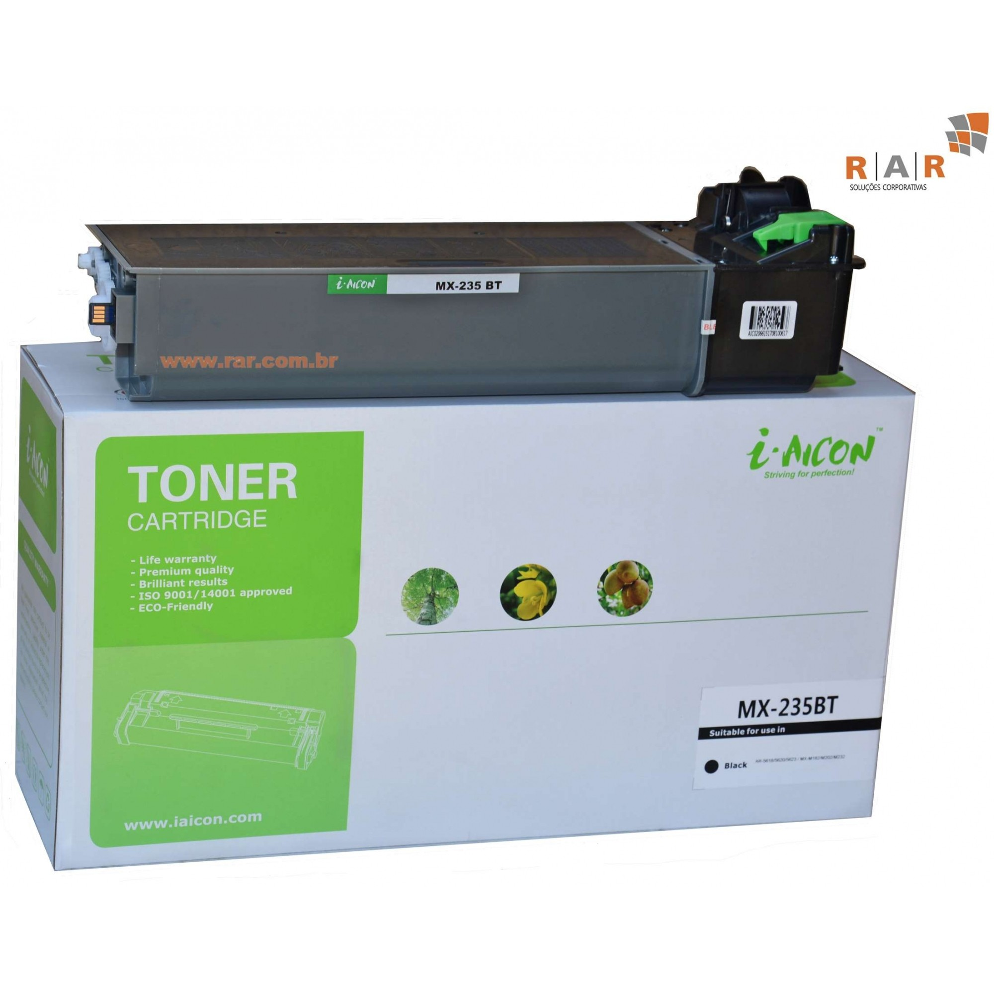 MX235BT  - CARTUCHO DE TONER PRETO COMPATÍVEL  SHARP MX-M202D