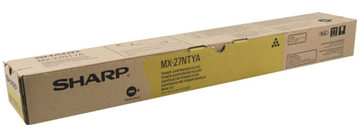MX27NTYA  TONER AMARELO ORIGINAL DO FABRICANTE PARA SHARP MX-2300N, MX-2700N