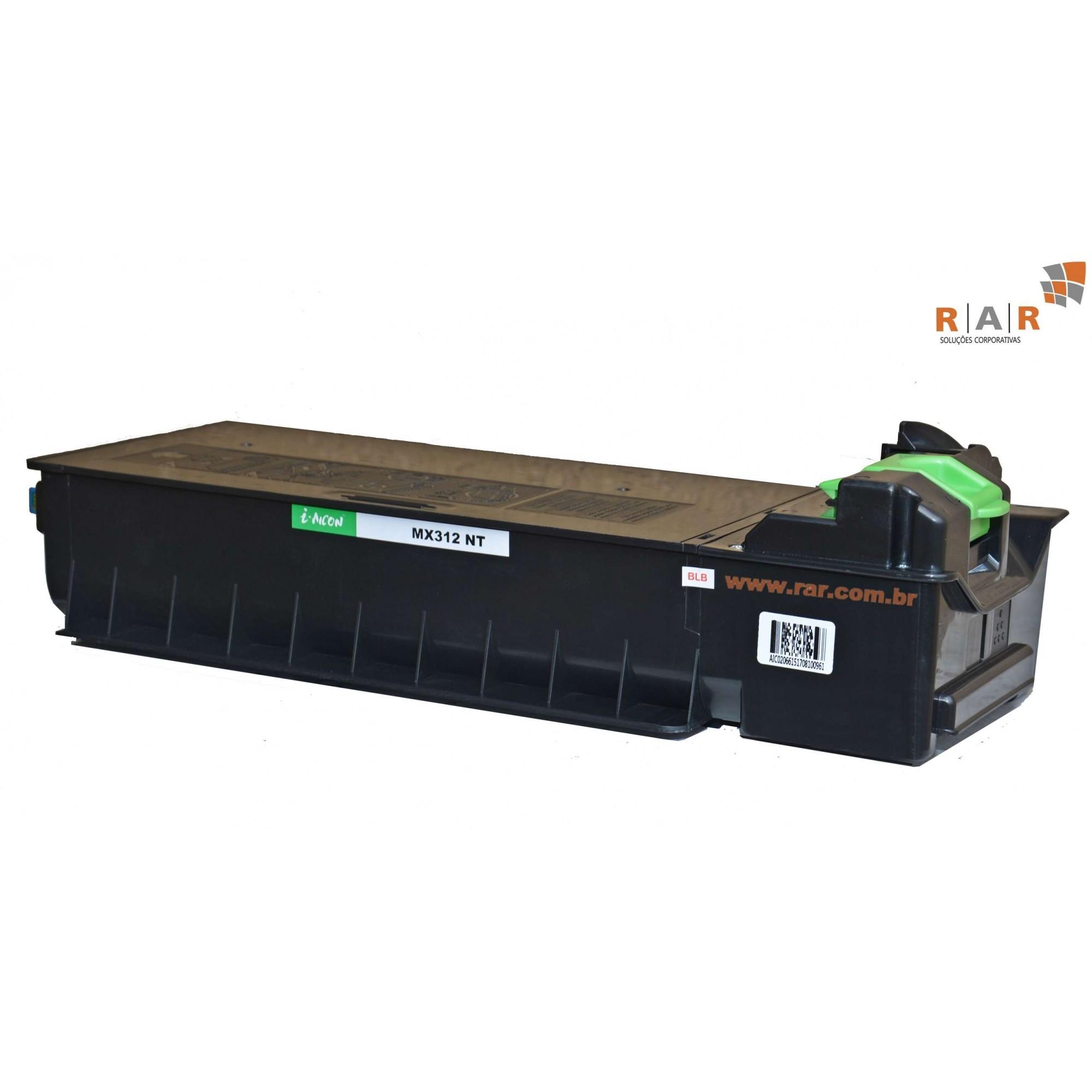 MX312BT/ MX-312BT  / MX312NT / MX-312NT - CARTUCHO DE TONER  COMPATIVEL 100% NOVO PARA SHARP MXM264N, MXM310 E SERIES