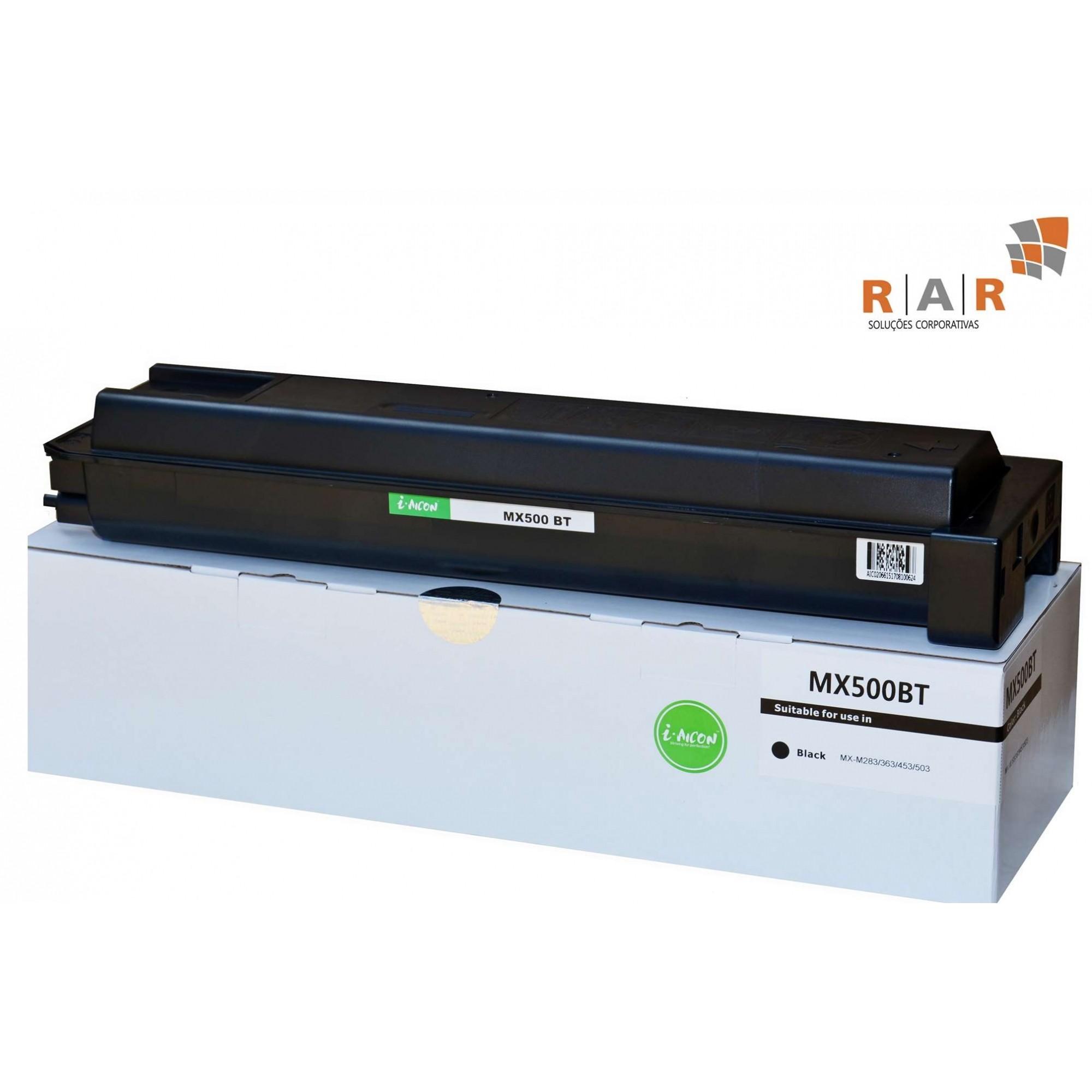 MX500BT / MX-500BT / MX500NT / MX-500NT - CARTUCHO DE TONER PRETO COMPATÍVEL 100% NOVO PARA SHARP MXM503N / M503 E SERIES