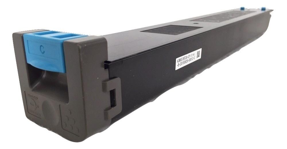 MX51BTCA / MX-51BTCA / MX51NTCA / MX-51NTCA - CARTUCHO DE TONER CYAN COMPATIVEL NOVO PARA SHARP MX4111N, MX5111N