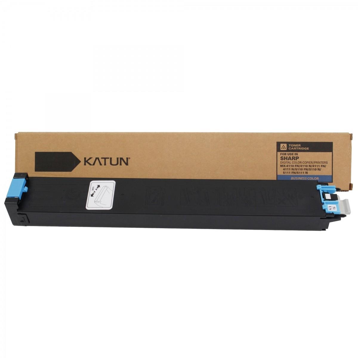 MX51BTCA / MX51NTCA - CARTUCHO DE TONER CYAN COMPATIVEL 100% NOVO PARA SHARP MX4111N, MX5111N