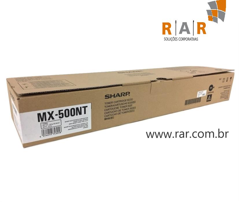 MX500BT / MX500NT - CARTUCHO DE TONER PRETO ORIGINAL PARA SHARP MXM503N E SERIES