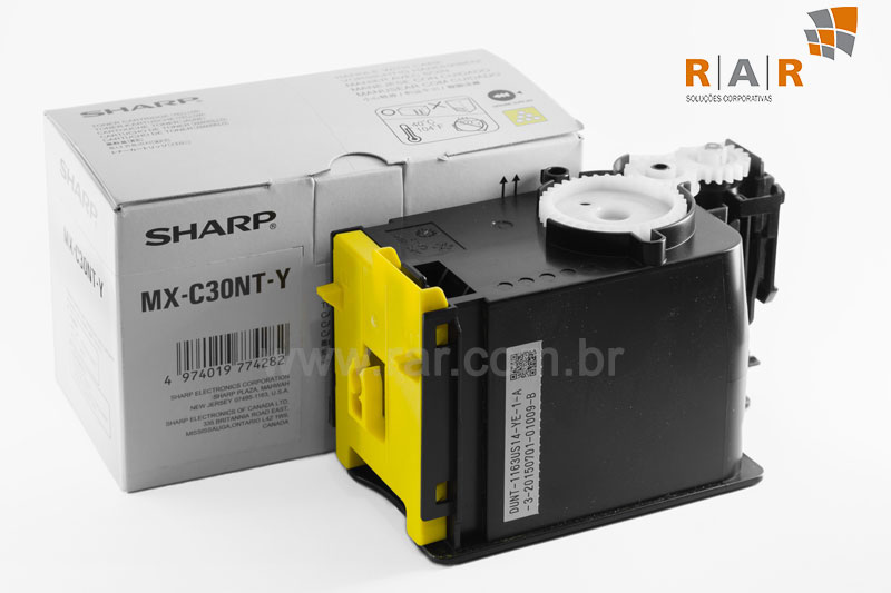MXC30NTY  (MX-C30NTY) CARTUCHO DE TONER AMARELO ORIGINAL SHARP MX-C300W E SERIES