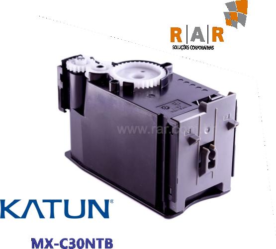 MXC30NTB - CARTUCHO DE  TONER PRETO COMPATÍVEL 100% NOVO - KATUN PERFORMANCE PARA SHARP MX-C300W