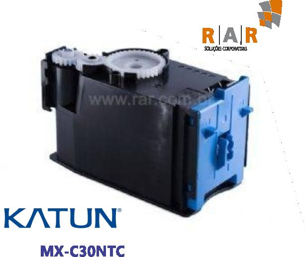 MXC30NTC - CARTUCHO DE TONER CIANO COMPATÍVEL 100% NOVO - KATUN PERFORMANCE PARA SHARP MX-C300W