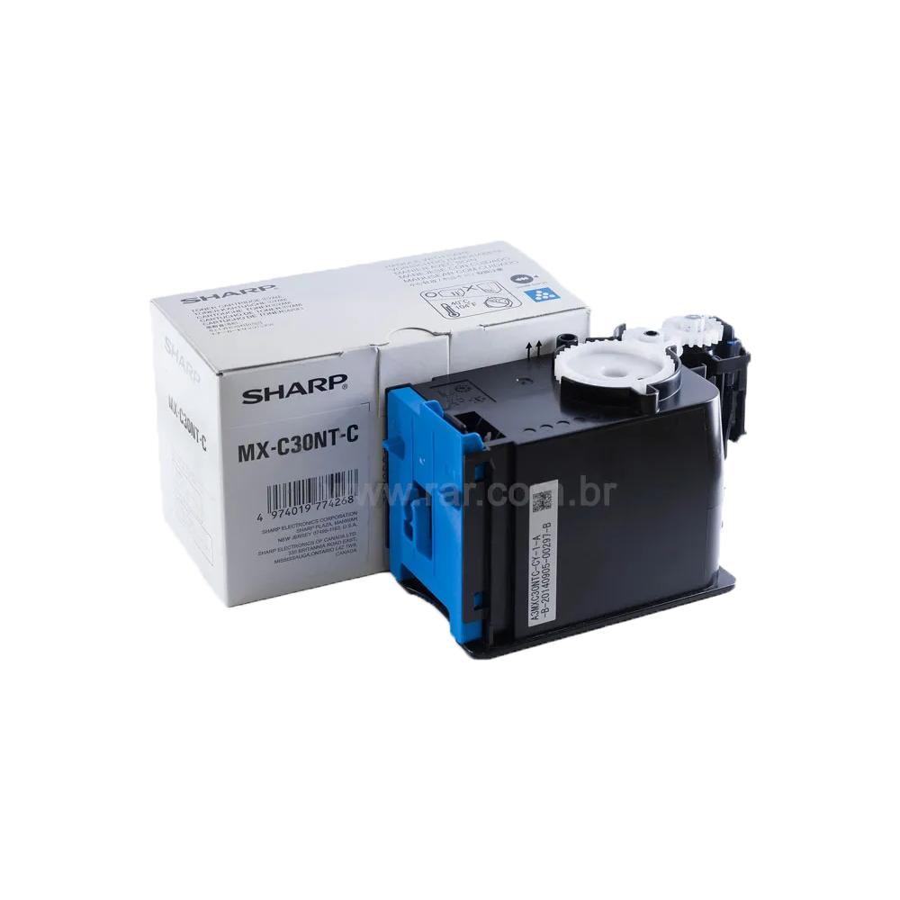MXC30NTC | MX-C30NTC - Cartucho de Toner Ciano Compatível Katun Perfomance - Para uso em Sharp MX-C250 | MX-C300W